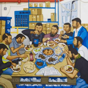 A Last Supper. Acrylic painting by Julia Odell