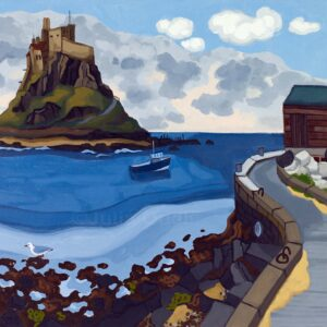 Lindisfarne. Oil painting by Julia odell