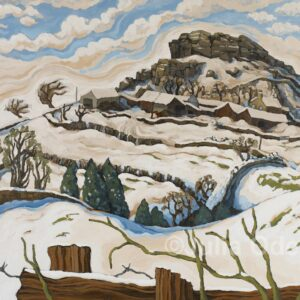 Nithering winter scene limited edition print by Julia Odell