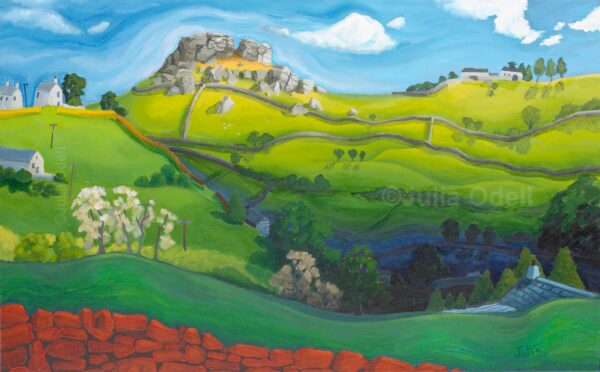 Almscliffe Crag Limited Edition Giclee Print by Julia Odell