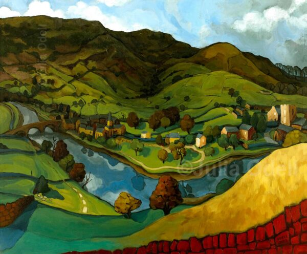 Burnsall Limited Edition Giclee Print by Julia Odell