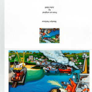 Newlyn Harbour Greetings Art Card by Julia Odell
